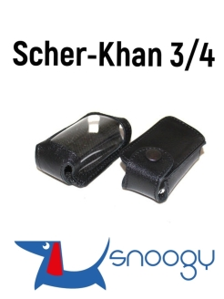 Scher-Khan 3/4. Leather case for a car key fob. Snoogy