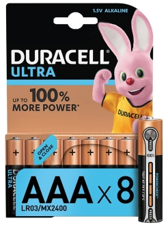 Батарейки LR03-8BL Ultra Power DURACELL