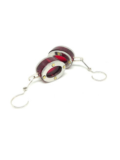 Серьги FRAME Earrings Oval RED SisKA