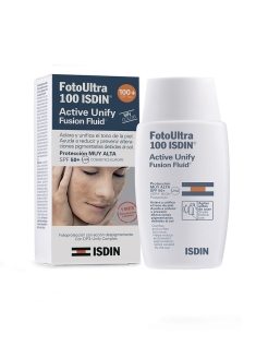 Флюид для лица Foto Ultra 100 ISDIN Active Unify  Fusion Fluid SIN COLOR, SPF 50+, 50 мл ISDIN