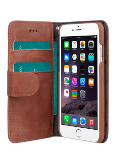 "Кожаный чехол книжка для Apple iPhone 6/6S 4.7"" - Wallet Book Type Classic Vintage Brown Melkco"