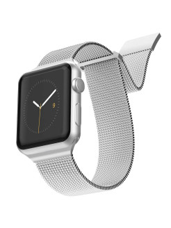New Mesh Strap for Apple Watch 38 / 40mm Silver x-doria