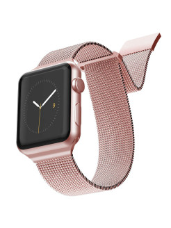 Ремешок New Mesh для Apple Watch 38/40мм Rose Gold x-doria