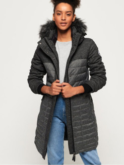 Пальто Elements Tweed Hooded Parka Superdry