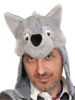 Carnival costume Mask-hat Wolf adult КАРНАВАЛОФФ