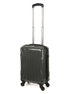 Plastic suitcase on four wheels, size S, for hand luggage, 31 l. BAUDET.