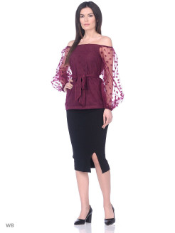 Blouse, long V&D