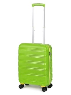 Plastic suitcase on four wheels, size S, for hand luggage, 40 l BAUDET.