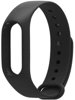 Silicone Strap for Xiaomi Mi Band 2 Black Roxmi