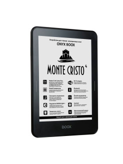 Электронная книга ONYX BOOX MONTE CRISTO 4 (чёрная, Carta+, Android, MOON Light+, Wi-Fi, BT, 8Гб) ONYX Boox