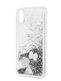 Чехол Guess для iPhone X/XS Glitter Hard Silver GUESS