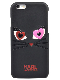 Чехол Lagerfeld для iPhone 6/6S Choupette in love 2 Hard PU Black Karl Lagerfeld