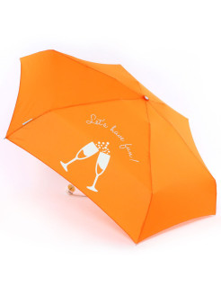 Umbrella Female, 5 cl. Meh., 6/52, P / E with UV protection, Appearing pattern Rain`s Talk
