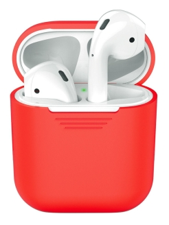 Silicone Case for AirPods, Red, Deppa Deppa