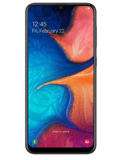 Смартфон Galaxy A20: 6,4'' 720х1560/Super AMOLED Exynos 7884B 3Gb/32Gb 13+5Mp/8Mp 4000 mAh Samsung