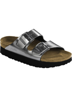 Биркенштоки Arizona Platform NL Metallic Silver Narrow BIRKENSTOCK
