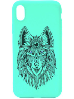 Чехол XR Soft Touch Art Grand Wolf для Apple iPhone XR GOSSO CASES