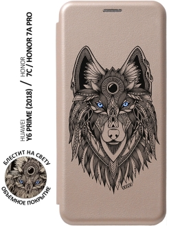 Чехол-книжка Book Art Jack Grand Wolf для Huawei Honor 7C / 7A Pro / Y6 Prime 2018 GOSSO CASES