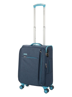 Suitcase fabric on four wheels, size S, for hand luggage, 40.1 l BAUDET.