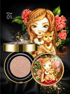 Тональный флюид кушон All Stay Cover Cushion SPF 35 / PA++ Animal Princess 01 Light Limoni