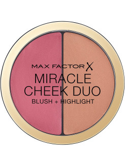 Румяна и Хайлайтер MIRACLE CHEEK DUO, тон 30 dusky pink copper MAX FACTOR