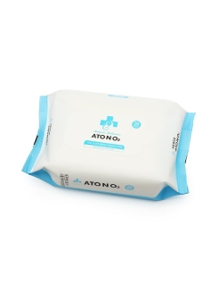 Влажные салфетки для рук  WET WIPES FOR HANDS, MOUTH Aton O2