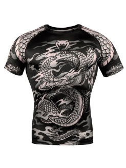 Рашгард Dragon's Flight Black/Sand S/S Venum