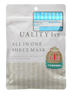 All in one sheet mask white 5 - увлажняющая выравнивающая цвет кожи лица маска all in one 5 Quality First