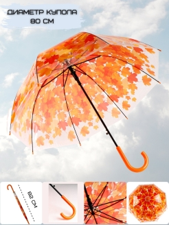 Umbrella autumn leaf fall Эврика