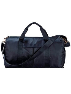 Travel, sports black bag with a pocket for shoes HashDuck