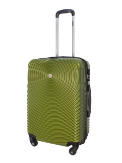 Suitcase TOUR SPACE plastic medium M, olive PROFFI