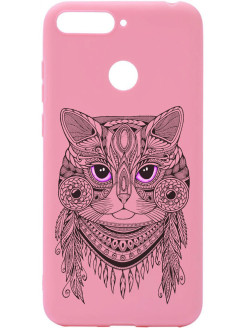 Чехол Soft Touch Art Grand Cat для Huawei Honor 7C / 7A Pro / Y6 Prime 2018 GOSSO CASES