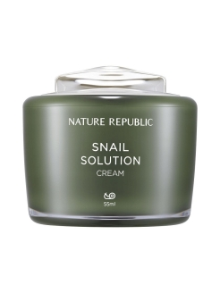 Крем для лица с муцином улитки Snail Solution Cream NATURE REPUBLIC