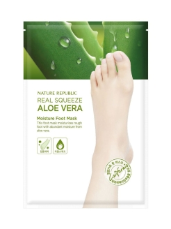 Маска для кожи ног Real Squeeze Aloe Vera Moisture Foot Mask NATURE REPUBLIC