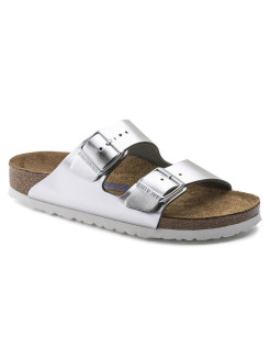 Биркенштоки Arizona NL SFB Metallic Silver Regular BIRKENSTOCK