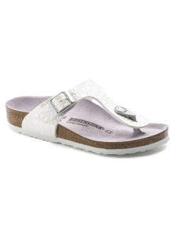 Пантолеты Gizeh Kids MF Metallic Stones White Regular BIRKENSTOCK