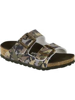 Биркенштоки Arizona Kids BF DD Dino Camo Khaki Regular BIRKENSTOCK