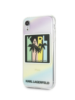 Чехол для iPhone XR TPU collection Kalifornia Dreams Hard Iridescent Karl Lagerfeld