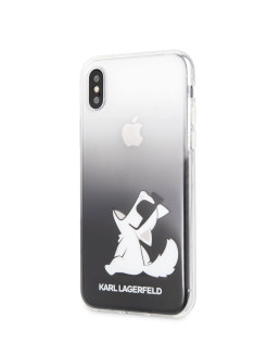 Чехол для iPhone X/XS TPU collection Choupette Sunglasses Cord Hard Black Karl Lagerfeld