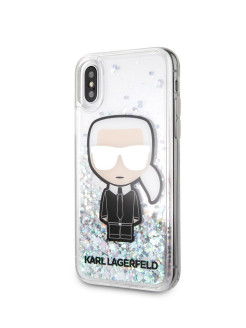 Чехол для iPhone X/XS Liquid glitter Iconic Karl Hard Iridescent Karl Lagerfeld