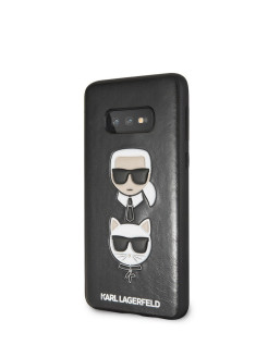 Чехол для Galaxy S10E PU Leather Karl and Choupette Hard PU Black Karl Lagerfeld
