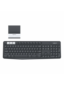 Wireless Multi-Device Keyboard and Stand Combo K375s Graphite Logitech