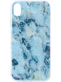 Чехол силиконовый Spangle Marble для Apple iPhone XR GOSSO CASES