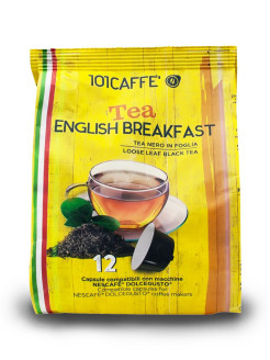 Чай в капсулах English Breakfast Tea стандарта Dolce Gusto, 12 шт. 101CAFFE