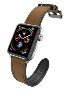 Hybrid Leather Watch Strap for Apple Watch 42/44 mm x-doria