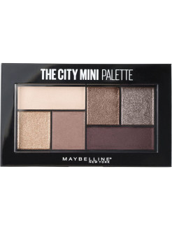 Палетка теней для глаз The City Mini, оттенок 410, Chill Brunch Neutrals, 6 гр Maybelline New York
