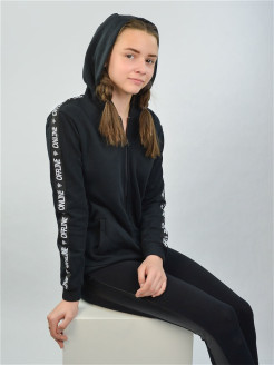 Jumper with a zipper with a hood LEO