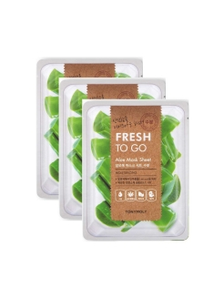 Набор масок с экстрактом алое FRESH TO GO, 3*22г Tony Moly