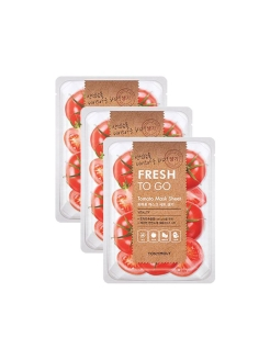 Набор масок с экстрактом томата FRESH TO GO, 3*22 г Tony Moly