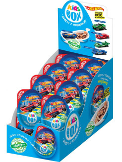 Кидсбокс Hot wheels 2 десерт с подарком 6/16, 20г. Конфитрейд